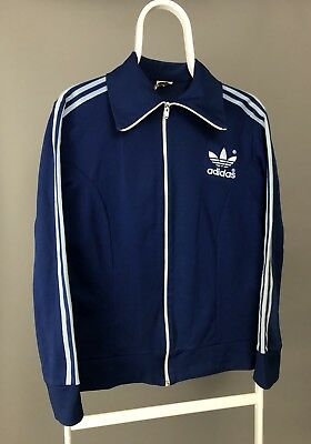 VINTAGE ADIDAS ORIGINALS Track Coat Jacket 80s 90s Zip Hong