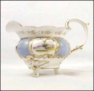 Minton c1830 Antique Hand-Painted Porcelain Creamer