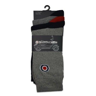 Lambretta 3 Pack Socks Grey & Navy