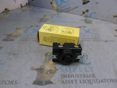 Hubbell 7310-B 20 A 125 V 3 Wire Twist Lock Receptacle Nib