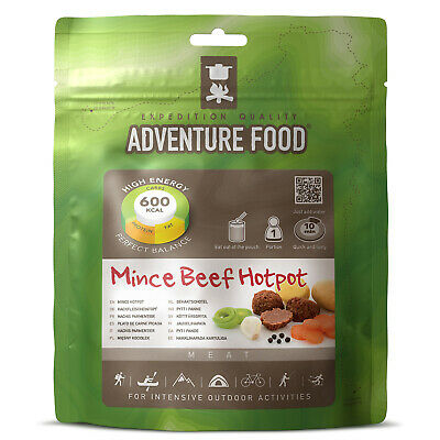 ADVENTURE FOOD Mince Beef Hotpot Outdoor Mahlzeit Not Verpflegung Nahrung Ration