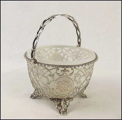 Antique Silver Bon Bon Basket London 1860