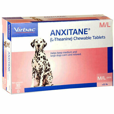 Anxitane 30 Chewable Tablets For Med/Large Dogs > 10.1kg Anxiety Stress Relief