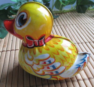 Altes Blechspielzeug Lehmann Paak 903 Western Germany, old metal toy duck #1303