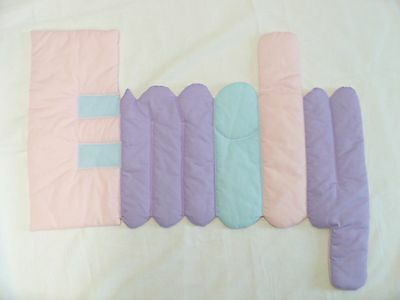 "PERSONALIZED ""EMILY"" Fabric Pink/Pastels Wall Hanging/Decor for Baby or Girl"