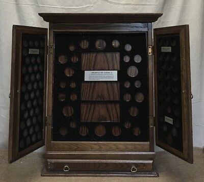 Wooden Coin Display Cabinet