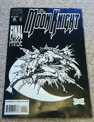 March 1994 Marvel Comics Marc Spector Moon Knight # 60 Last Issue Platt
