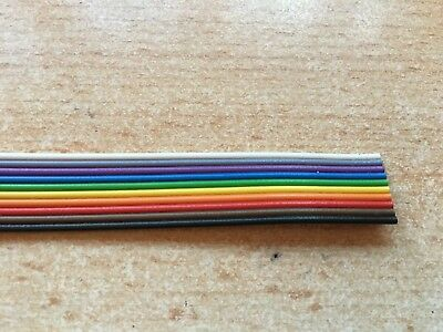 10 Way  IDC Ribbon Rainbow Cable       sold by the metre       H456