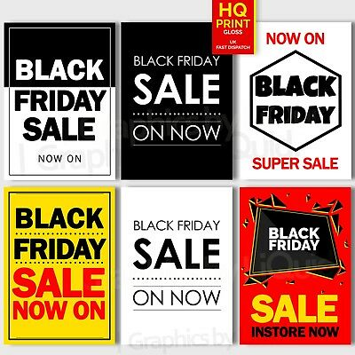 BLACK FRIDAY SALE POSTER  - SALE NOW ON printed Sign Poster