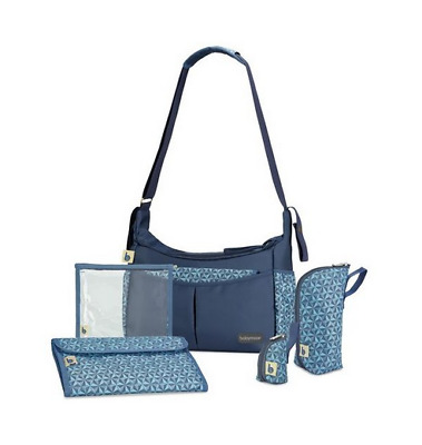 Brand new in bag Babymoov urban baby changing bag in navy blue with changing mat
