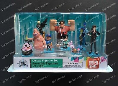 DISNEY Store FIGURE Playset RALPH BREAKS INTERNET DELUXE Figurine PLAY Set NEW