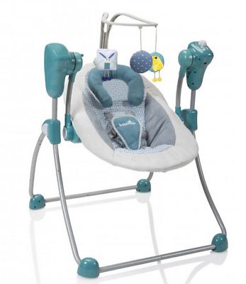 Brand new in box Babymoov swoon bubble baby swing in petrole from birth to 9kg