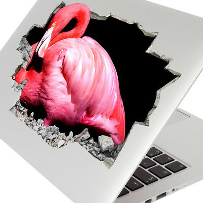 Wall Stickers Pink Flamingo Bird Bedroom Laptop Girls Boys Living Door F669