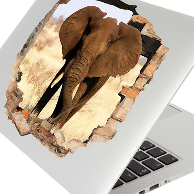 Wall Stickers Elephant Animal Savannah Kids Laptop Girls Boys Living Door F817