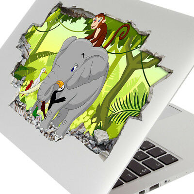 Wall Stickers Elephant Jungle Animals Kids Laptop Girls Boys Living Door G676