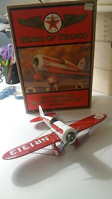 NEW Ertl WINGS of TEXACO 1930 Travel Air Model R Mystery Ship Die Cast Bank