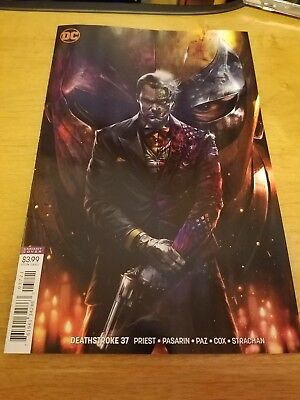 Deathstroke #37 Cover B Mattina Variant Two Face 2018 Dc Comics Nm Arkham P.2