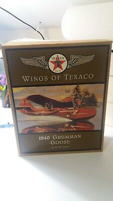 NEW Ertl Wings of Texaco 1940 Grumman Goose Die Cast Bank 4th In Series