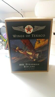 NEW Ertl Wings of Texaco 1931 Stearman Biplane Die Cast Bank 3rd in The Series
