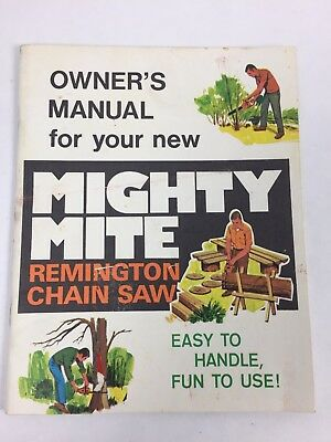 Vintage Chainsaw Remington Mighty Mite Deluxe Usa 34cc For Parts Fix