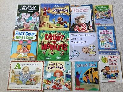 Picture books for first grade classroom lot of 12