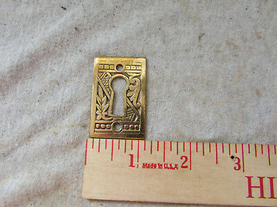 VTG Antique Brass Key Hole Cover Eastlake Victorian Corbin Ceylon Escutcheon