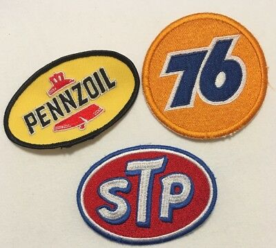 NASCAR Rockabilly Rock'n'roll - Patches Aufnäher Set - STP - Pennzoil - Union 76