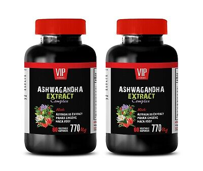 REDUCE CORTISOL LEVELS - ASHWAGANDHA ROOT COMPLEX 770mg - reduce  triglycerides 2