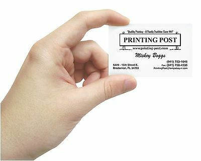 1000 - 1 COLOR BUSINESS CARDS - RAISED PRINTING - Black, Red, or Reflex Blue Ink