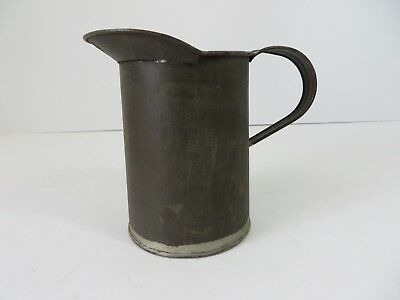 Vintage Primitive Soldered Steel Creamer Scoop Measuring Cup #7097
