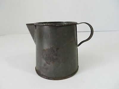 Vintage Petite Primitive Soldered Steel Creamer Scoop Measuring Cup #7095