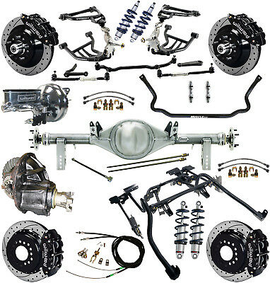 """Ridetech Coilover,4-Link Kit,currie Rear End,wilwood Disc Brakes,13"""" Drill,7081"""