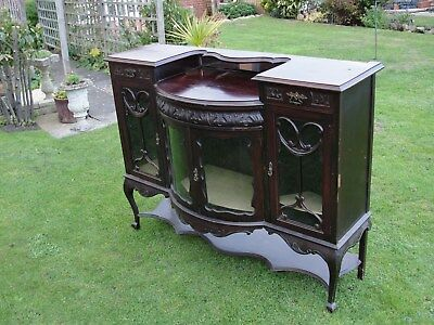 LATE VICTORIAN SIDEBOARD / CABINET in the ART NOUVEAU STYLE in rather nice condt