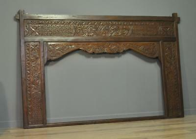 Attractive Large Vintage Ornately Carved Eastern Wall Screen Frame