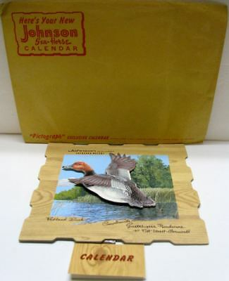 1959 Johnson Outboard Motor Calendar With Mailing Envelope-Mint