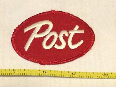 Post Cereal Cloth Patch Red