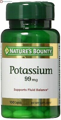 Nature's Bounty Potassium Gluconate 99mg, 100 Caplets