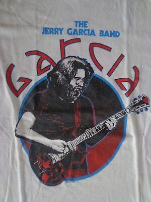 Rare vintage original Grateful Dead '81 THE JERRY GARCIA BAND T-shirt Medium