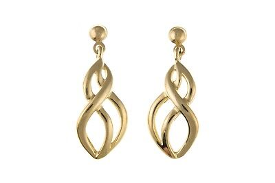 Solid Gold Drop Earrings Yellow 9 Carat 375 Hallmarked Drops