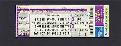 2001 Neil Young Pearl Jam Billy Idol Dave Matthews R.E.M. Concerto Ticket Ponte