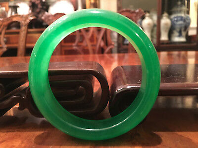 An Excellent Chinese Apple Green Jade/Jadeite Bangle.