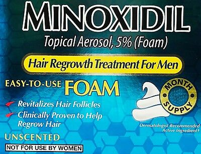 Kirkland Minoxidil 5% Hair Regrowth Treatment Foam 60g 1,2,3,6 MONTHS -CHOOSE