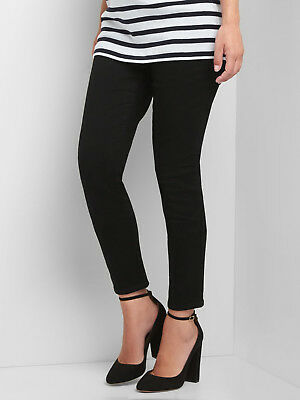 Gap Maternity Full Panel True Skinny Jeans in Black ~ NWT ~ Size 31 / Size 12