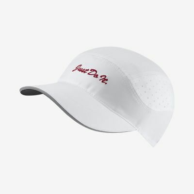 30831f3ab NWT NIKE AEROBILL AW84 Tailwind Just Do It Drifit Running Hat AQ3624-100  White