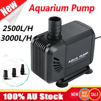Aqua Aquarium Filter Pump Submersible UV Fountain Pond Water Pump 2500-3000L/H