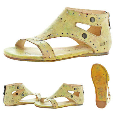 c0602e717cc9 Bed Stu Women s Soto G Leather Grommet Flat Sandals Shoes
