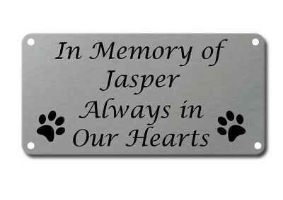 Personalised Pet Memorial Plaque Dog Cat Animal Engraved 120mm x 60mm