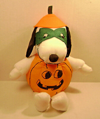"""Snoopy 6""""  Plush Halloween  Pumpkin - 2 Different Styles - Your Choice"""