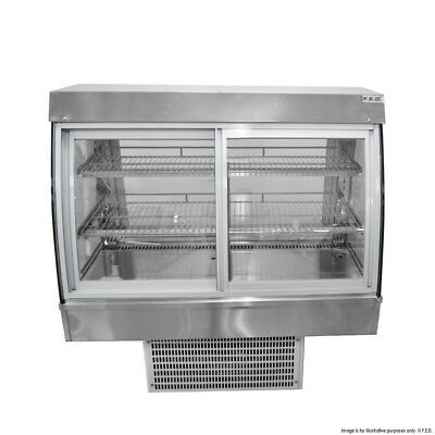 Drop-In Counter Top Cold Refrigerated Cake Patesserie Display 1.5 meter long