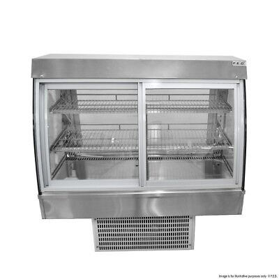 Drop-In Counter Top Cold Refrigerated Cake Patesserie Display 0.9 meter long